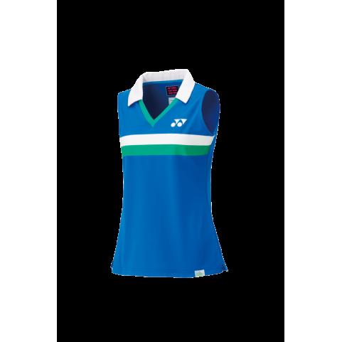 75TH Women's Sleeveless Polo Shirt 20627A [Sapphire Blue]